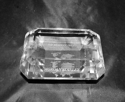 TIFFANY & CO  Morgan Stanley Crystal Paperweight