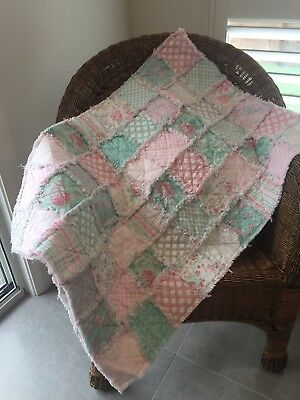 Gorgeous hand made baby rag quilt