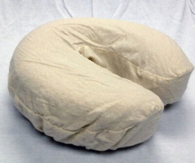 Massage Table Face Cradle Covers Head Rest Flannel Cozies Sheets Pad Natural 4pc