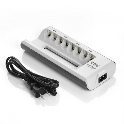 8 Bay AA AAA Smart Battery Charger for Ni-MH/Ni-CD Rechargeable Battery USA
