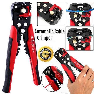 Hot Automatic Cable Wire Crimper Crimping Tool Stripper Adjustable Plier Cutter