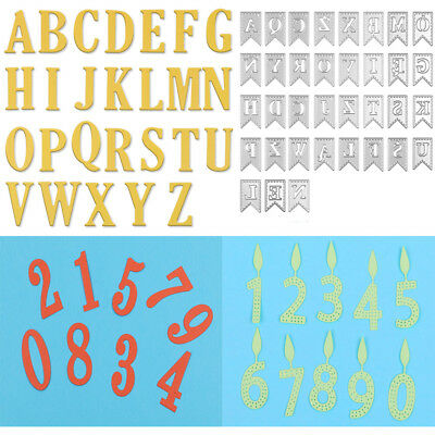 DIY Large Alphabet Letters 0-9 & A-Z Cutting Dies Stencils Scrapbooking Crafts