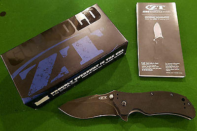 Zero Tolerance 0350BW Folder G10 Knife with Blackwash SpeedSafe, New, Free Ship
