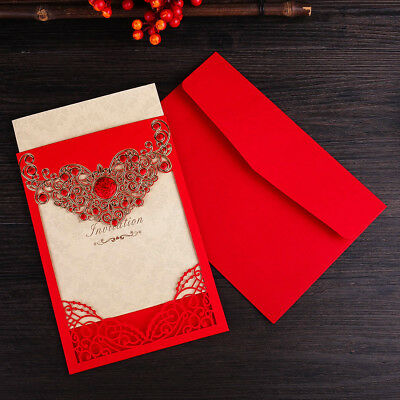 red wedding invitation cards with envelopes seals custom