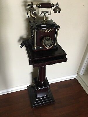 Antique Phone Stand With Antique Looking Digital Working Phone