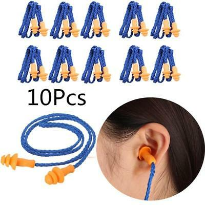 10xSoft Silicone EarPlug Protector Hearing Protection Noise Reducer Banded Muff,