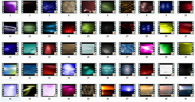50 Professional Quality Animated Video Loops on CD