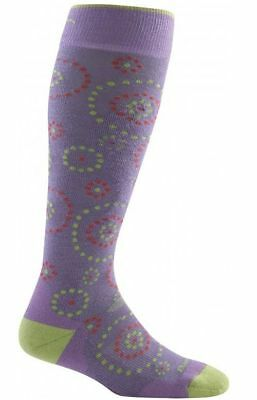 Darn Tough Starry Night Over-the-Calf Cushion Sock Lilac M 1836