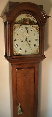"Slim  Oak "" Automation See/saw ""  8 Day  Longcase / Grandfather Clock"