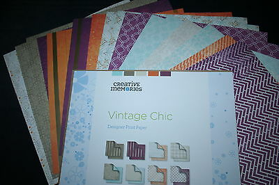 "Creative Memories ""Vintage Chic"" paper pack, 24 sheets. Brand new, NLA ,Value"