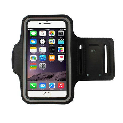 Armband Gym Running Sport Arm Band Cover Case For iphone 8 Plus 5.5 inch BK #f