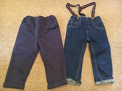 Boys NEXT Chinos And Jeans With Braces Size 18-24 Months BRAND NEW
