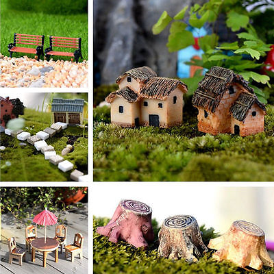DIY Miniature Fairy Garden Ornament Decor Pot HandCraft Dollhouse Accessories