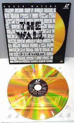 """roger waters """"the wall"""" 082 648-1 laserdisc 1990 , pal"""