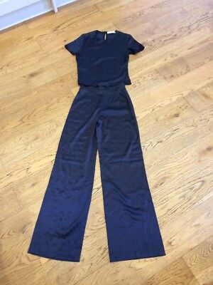 Stunning Top Trousers Silk Set Ineptie