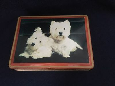 West Highland Terrier English Biscuit Decorative Tin