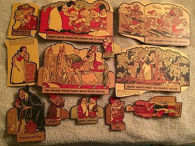 1938 Snow White cut Outs from Post Toasties