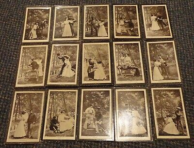 1905 US Army soldier courting his girl postcard set of 15
