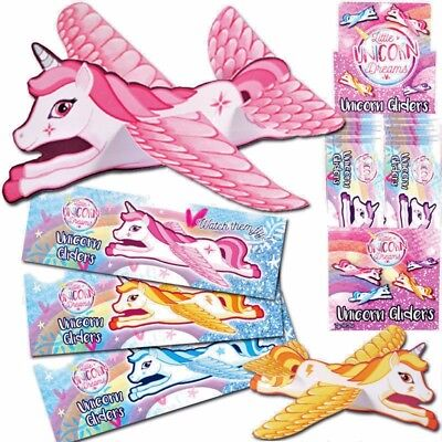 2,4,8,10 Unicorn Flying Plane Glider Girls Party Bag Christmas Stocking Filler