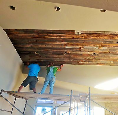 """:30 Sq. Ft. Reclaimed Mix Barn Lumber Wood Wall Board 1/2"""" Thick.-Stock Photo"""