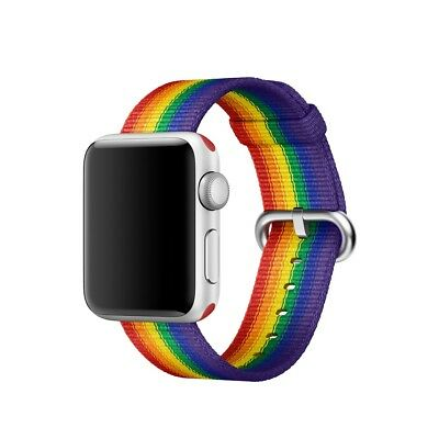 Apple Watch Pride Special Edition Watch Band 38mm *NEW* Woven Nylon Discontinued