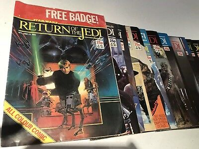 Star Wars Vintage Return Of The Jedi Comics - 1 to 95 - 83 editions - 1983-1985