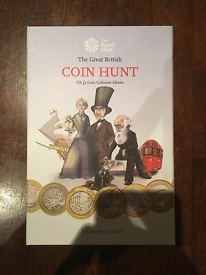 The Royal Mint Coin Hunt £2 two pound coin album 1997 - 2017 New EMPTY