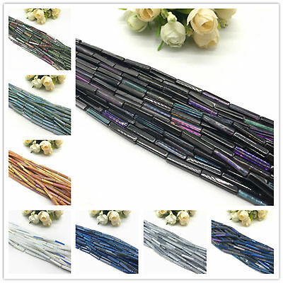 20 pcs 4*4*20mm Cuboid Crystal Beads Loose Glass Beads For Jewelry Making