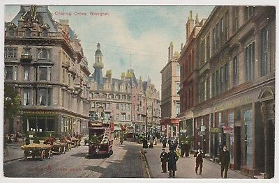 Vintage Postcard Charing Cross Glasgow Unposted