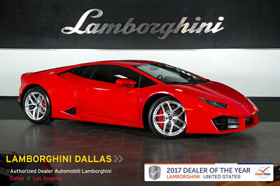 2017 Lamborghini Huracan LP580-2 Coupe 2-Door LIFTING SYSTEM+NAVIGATION+REAR VIEW CAMERA+HOMELINK+POWER SEATS+2WD