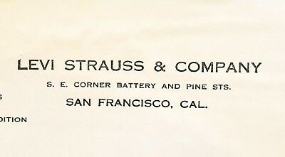 @ 1915 Antique Letterhead ~ Levi Strauss & Company ~ San Francisco,  CA
