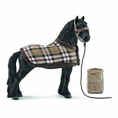 Friesian Horse Care Set Farm Animal Home Decor Display Figure Toys Xmas Gift New
