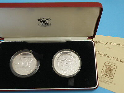 Venezuela - 1972 Silver Proof Two-Coin Set - Animals - Jaguar & Giant Armadillo