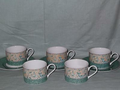 BHS Valencia 5 Tea Cups + 3 Saucers   British Home Stores
