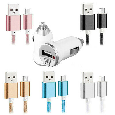 Micro USB Fast Charging Cable Lead & Car Charger for Sony Xperia XA Z5 Z3 Z2 Z1