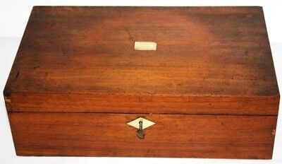 Antique Victorian Writing Slope Stationery Box - FREE Shipping [P1206]