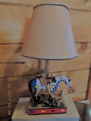"""Trail of the Painted Ponies LAMP """"WOODLAND HUNTER""""  2007 # 12485 RETIRED"""