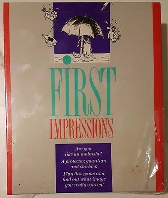 FIRST IMPRESSIONS FAMILY BOARD GAME BY WADDINGTONS 1989  - New & Sealed