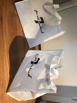 7 For All Mankind White Bag And Some Much More/Accessory Bag - Lot of 2!stylish