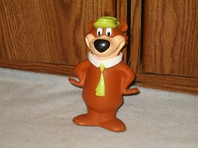 "Vintage 1997 Yogi Bear 8"" Coin Piggy Bank With Green Hat & Tie Hanna Barbera"