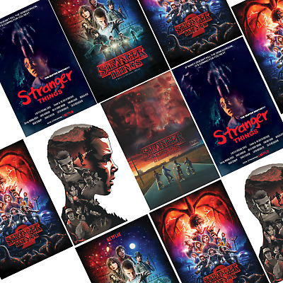 Stranger Things Posters | Tv Series Show | Art Decor | A4, A3 | Gift For Funs