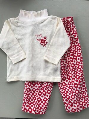 Vintage Healthtex Corduroy Pants Turtleneck Shirt Outfit Red White Ladybug 2T