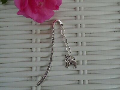 Silver Plated Pug Book Mark Reading Gift Sent In Organza Bag Pugs Cute