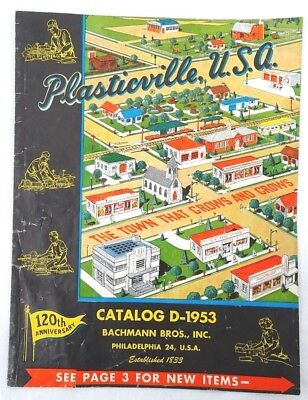 Vintage Plasticville, Usa Bachmann Bros Inc Catalog D-1953 Used Old Store Stock