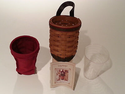 Longaberger 2002 Santa's Helper Basket with Liner and Protector