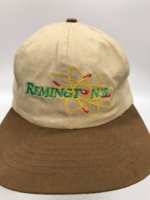 Vintage Remington Baseball Style Hat Brown Beige Flying Bullets Made in USA