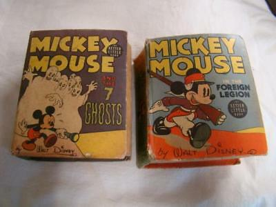 2 Mickey Mouse Little Big Books , 7 Ghosts, In th eForeign Legion ,  1940