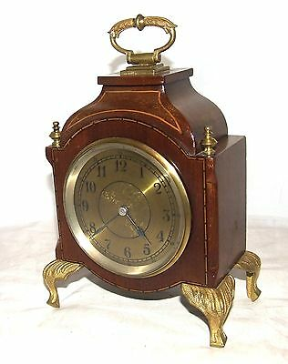 Antique Mahogany & Bronze Ormolu Mounts Bracket Mantel Clock / Timepiece