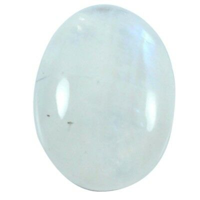 13.70cts 100% Natural Top Quality Rainbow Moonstone Cabochon Oval Loose Gemstone