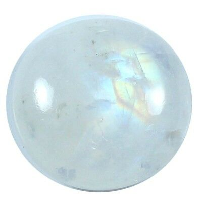 16.50ct 100% Natural Top Quality Rainbow Moonstone Cabochon Round Loose Gemstone
